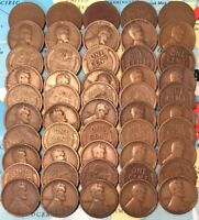 1919-S  ROLL 50 LINCOLN CENTS// AVG CIRC/FAST SHIPPING W/USPS TRACKING