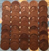 1918-P ROLL 50 LINCOLN CENTS//AVG CIRCULATED// FAST SHIPS FREE W/TRACKING