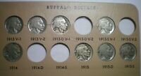 1913 TO 1938 BUFFALO NICKEL COLLECTION / 60 COINS   MISSING