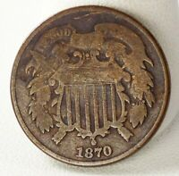 1870 SHIELD TWO CENT COIN  | 8299