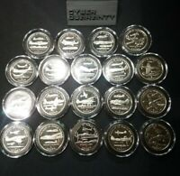 ISLE OF MAN   AIRCRAFT OF WWII COMMEMORATIVES   19 COIN LOT
