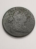 1798 DRAPED BUST LARGE CENT HAIRSTYLE 1 VARIETY. RARE COPPER