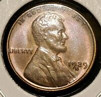1929-S LINCOLN WHEAT CENT - GEM BU LUSTROUS BETTER DATE - SHIPS FREE
