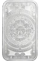 SILVER AZTEC CALENDAR STONE EAGLE WARRIOR 1 OZ .999 CUAUHTEMOC BU NEW IN CAPSULE
