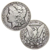 LOT OF 2 - PRE-1921 90 SILVER MORGAN DOLLAR 1878-1904 CIRCULATED
