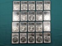 20 PC LOT MS70 SILVER AMERICAN EAGLE COINS NGC EARLY RELEASE