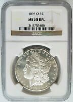 1898 O SILVER MORGAN DOLLAR NGC MINT STATE 63 DPL DEEP MIRRORS PROOF LIKE PL DMPL COIN