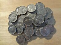 FULL ROLL 1960 JEFFERSON NICKELS  AVG. CIRCULATED  40 COINS