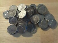 FULL ROLL 1961 JEFFERSON NICKELS  AVG. CIRCULATED  40 COINS