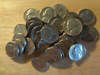 FULL ROLL 1966 JEFFERSON NICKELS  AVG. CIRCULATED  40 COINS