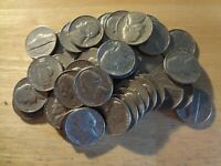 FULL ROLL 1968 D JEFFERSON NICKELS  AVG. CIRCULATED  40 COINS