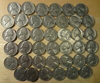 FULL ROLL 1970 S JEFFERSON NICKELS  AVG. CIRCULATED  40 COINS