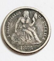 1876-S SEATED LIBERTY DIME HIGHER GRADE