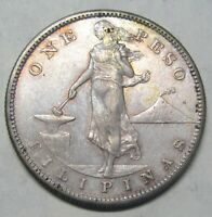 1907 S PHILIPPINES ONE PESO COIN TAKE A LOOK