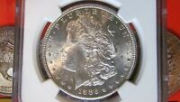 1886 S MORGAN SILVER DOLLAR NGC MINT STATE 62