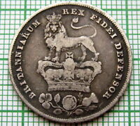 GREAT BRITAIN GEORGE IV 1826 ONE SHILLING SILVER PATINA
