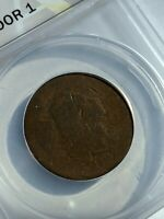 ANACS 1794 P1 HEAD OF 1794  FLOWING HAIR LARGE CENT ONE COIN FROM RETIRED
