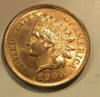 1909 INDIAN HEAD CENT CHOICE BU RED