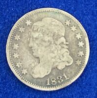 1831 BUST HALF DIME 5 C CENT COIN- NATURAL FINE- SILVER COINAGE