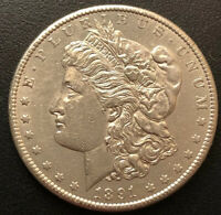 1891 S MORGAN SILVER DOLLAR BU CONDITION UNC COIN