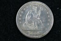 1856   LIBERTY SEATED QUARTER    J01904