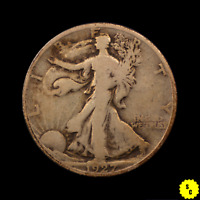 1927-S WALKING LIBERTY HALF DOLLAR, VG CONDITION, BETTER DATE OLD US SILVER