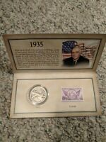 1935 HISTORIC WALKING LIBERTY STAMP AND COIN SET