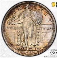 1920 STANDING LIBERTY QUARTER PCGS MS64FH SECURE NICE COLOR