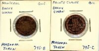 BARRY UMAN   PERSONAL TOKENS LOT OF 2