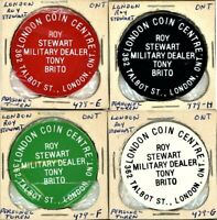 ROY STEWART   PERSONAL TOKENS LOT OF 4  GROUP 2