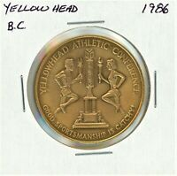 1986 YELLOWHEAD BC ATHLETIC CONFERENCE GOOD SPORTSMANSHIP MEDAL