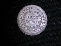 1853 US SILVER SEATED LIBERTY HALF DIME OLD COIN FROM COLLECTION FREE USA MAIL