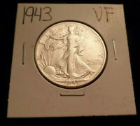 305  FINE WALKING LIBERTY SILVER HALF DOLLAR 1943 P VF