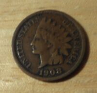 KEY DATE 1908 S INDIAN HEAD CENT   ABOUT FINE