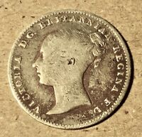 1861 GREAT BRITAIN SILVER 3 PENCE   VICTORIA 1ST PORTRAIT; INCL. MAUNDY