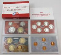 2009 S UNITED STATES MINT SILVER PROOF SET   18 COIN PROOF S