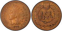 1870 INDIAN CENT DDR FS-801  PCGS VG-08