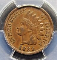 1889 INDIAN HEAD CENT PCGS 53  SNOW -1 DOUBLED DIE REVERSE