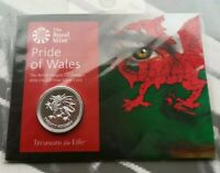 2016 WELSH DRAGON 20 SILVER COIN PRIDE OF WALES