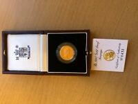 1997 PROOF GOLD SOVEREIGN COIN