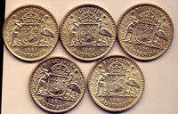 5 FLORINS: BEAUTIFUL SILVER  COINS :  ALMOST UNC  NO  RESERV