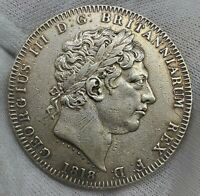 1 CROWN 1818 LIX GEORGE III EDGE GREAT BRITAIN HIGHLY GRADE