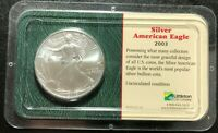 2003 AMERICAN SILVER EAGLE DOLLAR 1 TROY OZ .999 FINE SILVER  GEM BU IN CASE