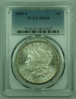 1880-S MORGAN SILVER DOLLAR S$1 PCGS MINT STATE 64 A 25