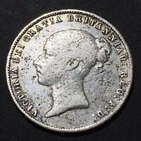 OLD FOREIGN WORLD COIN: 1866 GREAT BRITAIN SIXPENCE .925 SIL
