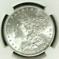 1901-O MORGAN SILVER DOLLAR - NGC MINT STATE 63 BEAUTIFUL COIN REF83-053