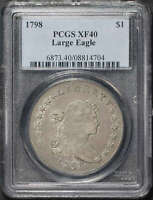 1798 DRAPED BUST DOLLAR LARGE EAGLE PCGS EXTRA FINE -40
