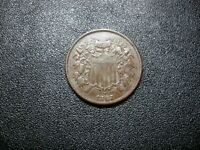 1867 TWO CENT SHIELD,  AU COLLECTOR'S CONDITION COIN