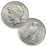 1922-1935 - 90 SILVER PEACE DOLLAR ABOUT UNCIRCULATED
