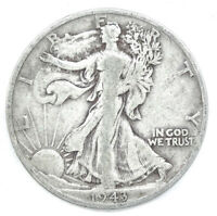 WALKING LIBERTY HALF HALF DOLLAR AVERAGE CIRCULATED DEALERS CHOICE ON DATE